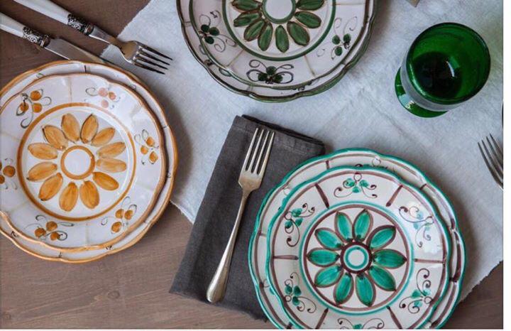 Servizio del papa decoro piscitello ceramiche italiane ceramiche